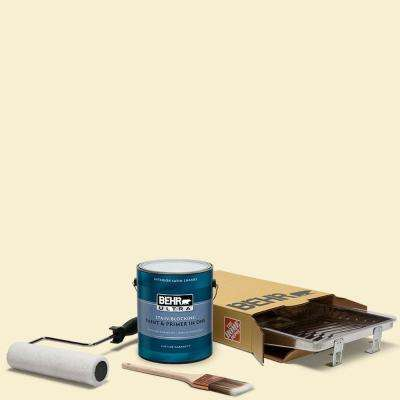 1 gal. #YL-W03 Honied White Ultra Satin Enamel Interior Paint and 5-Piece Wooster Set All-in-One Project Kit