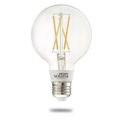 Solana 60-Watt Equivalent G25 Dimmable Smart Wi-Fi Connected LED Light Bulb Filament White (1-Bulb)