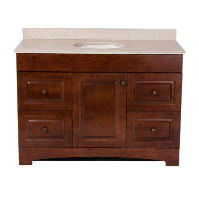 Captivating Vanity In Auburn With Colorpoint Vanity Top In Maui