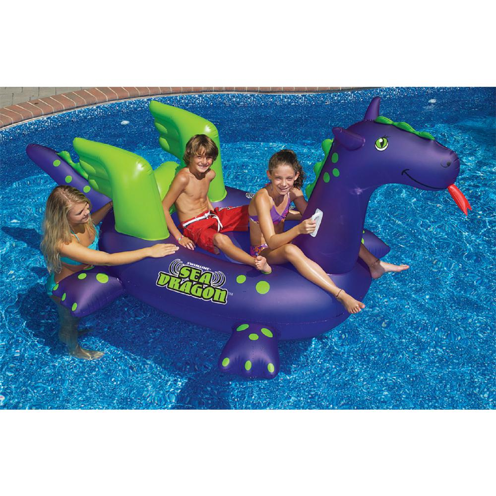 Swimline Giant Ride-On Sea Dragon Swimming Pool Float-90625 - The ...