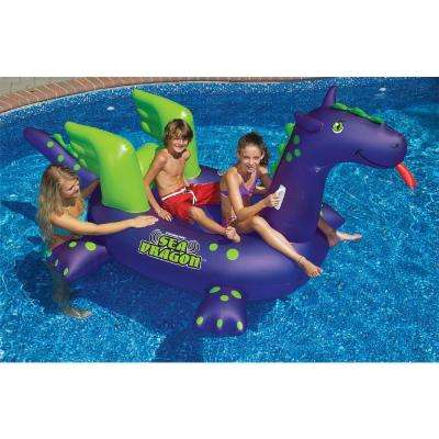 Giant Ride-On Sea Dragon Swimming Pool Float
