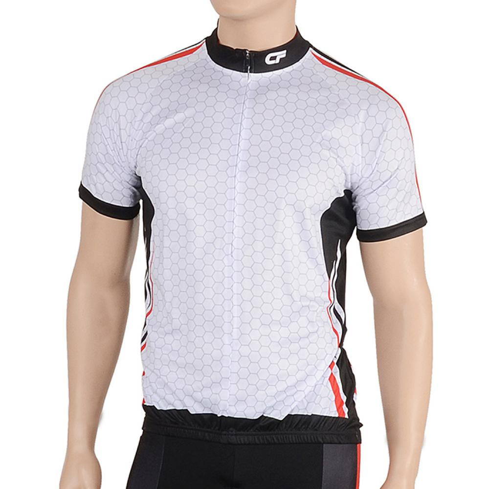 Cycle Force Triumph Men's Large White/Red Cycling Jersey