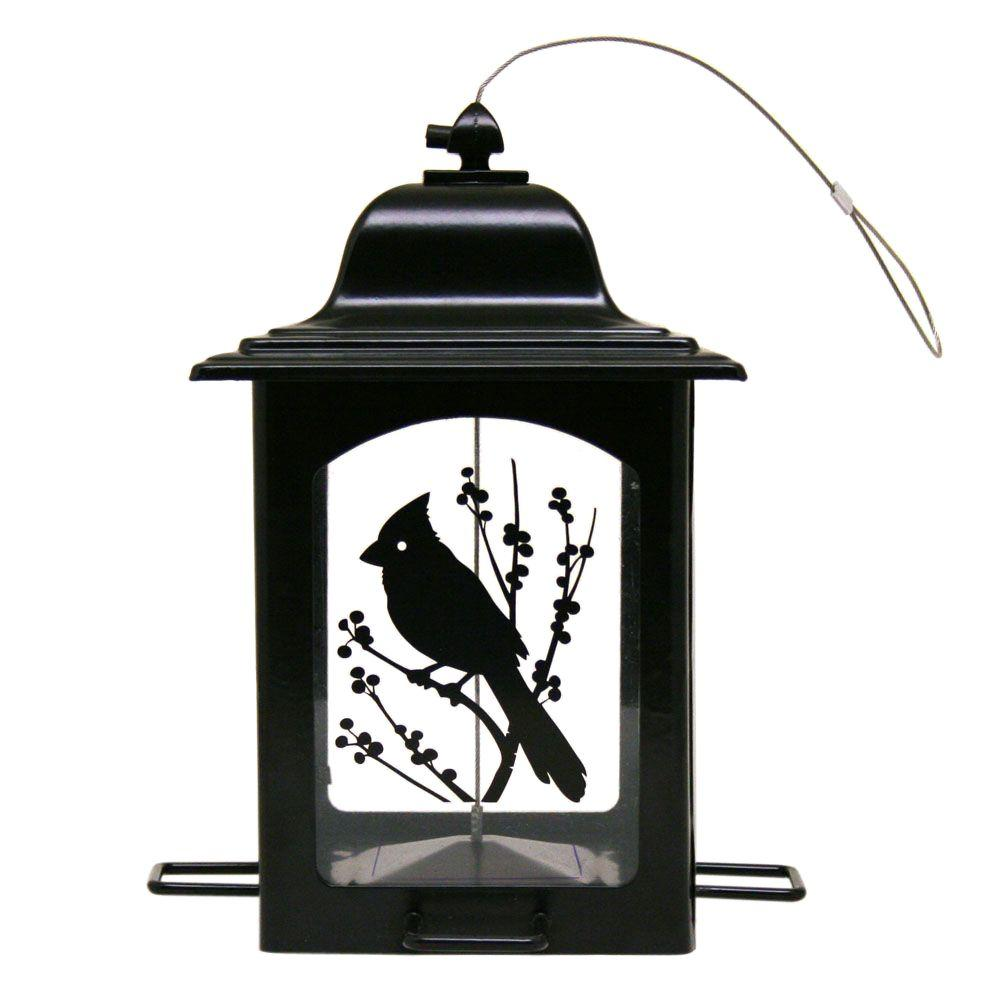 Perky-Pet Birds and Berries Lantern Wild Bird Feeder, Black
