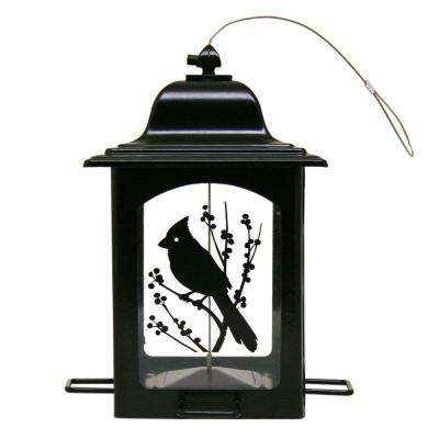 Bird and Berries Black Lantern Hanging Bird Feeder - 3 lb. Capacity