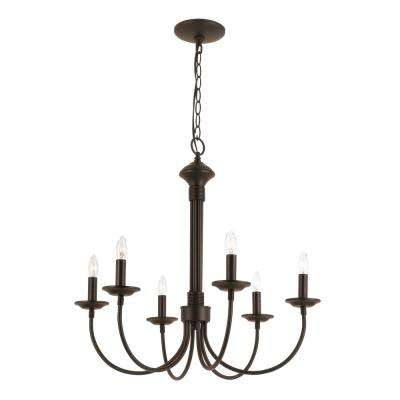 Candle 6-Light Black Chandelier