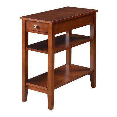 American Heritage 3-Tier Mahogany End Table