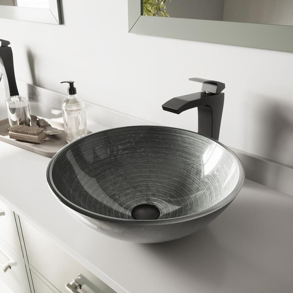 Vigo Gl Vessel Bathroom Sink In