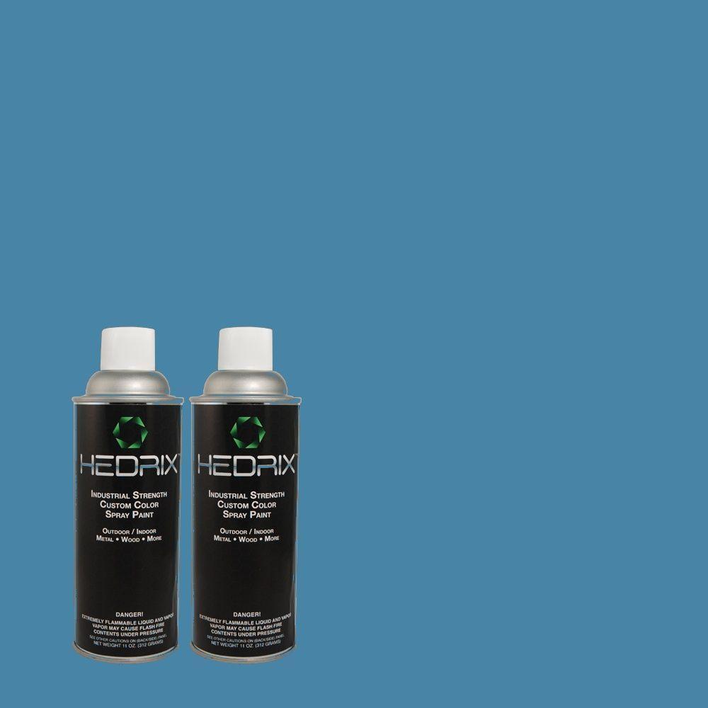 Hedrix 11 oz. Match of 1A39-5 Dover Strait Flat Custom Spray Paint (2-Pack)