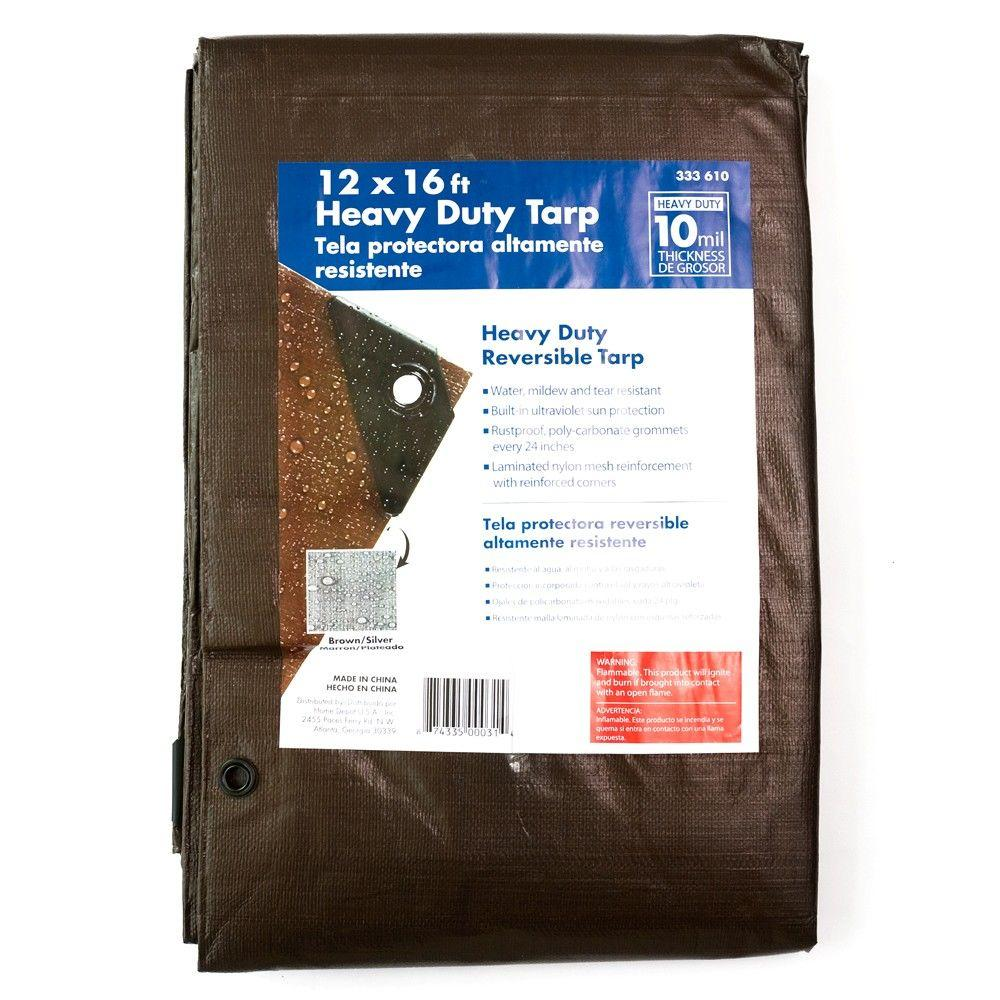 [-] 12 X 16 Brown Tarp Home Depot