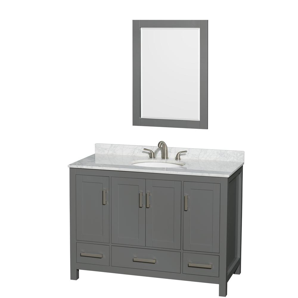 Wyndham Collection Sheffield 48 In W X 22 In D Vanity In