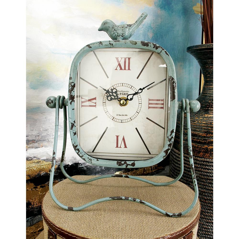 11 in. x 9 in. Songbird Multi Rectangular Table Clocks (Set of 3)