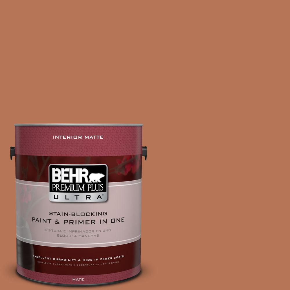 BEHR Premium Plus Ultra Home Decorators Collection 1 gal. #HDC-AC-06 Campfire Blaze Flat/Matte Interior Paint
