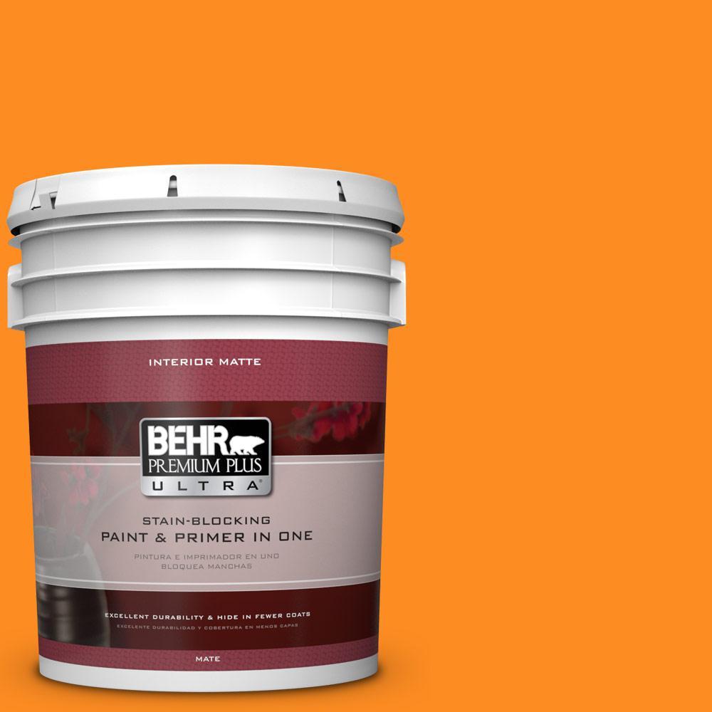 BEHR Premium Plus Ultra 5 gal. #S-G-280 Mango Madness Flat/Matte Interior Paint