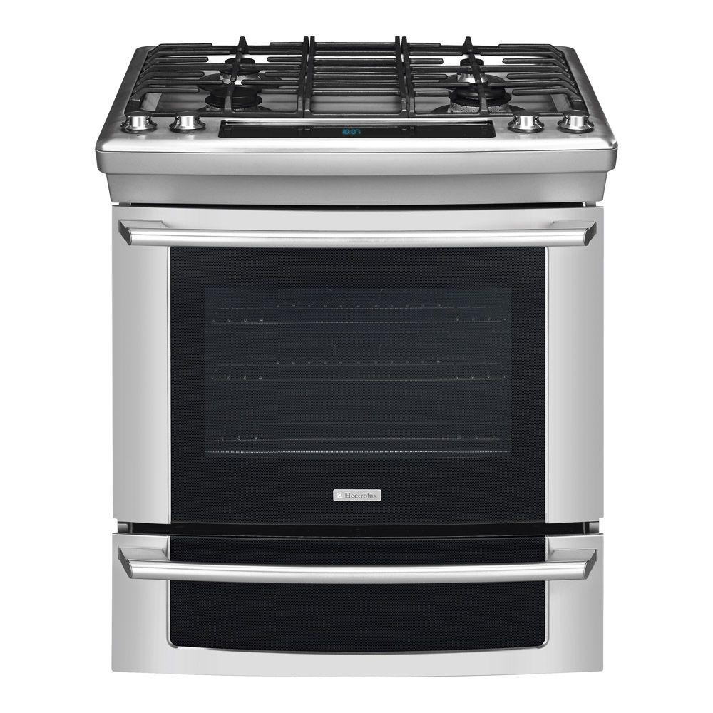 Electrolux Wave-Touch 4.2 cu. ft. Slide-In Gas Range with Self-Cleaning Convection Oven in Stainless Steel-DISCONTINUED