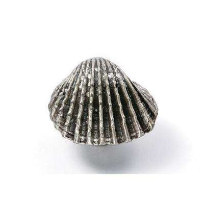 1.25 in. Sea Shell Design Pewter Cabinet Knob