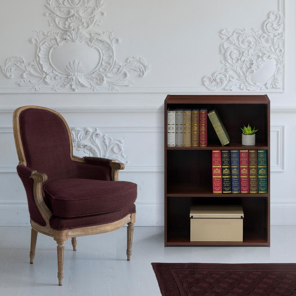 Wright Brook Cherry 3-Shelf Bookcase