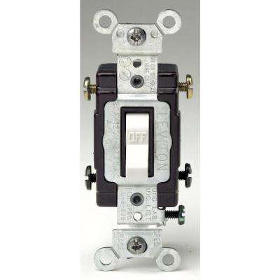 20 Amp 120/277-Volt 2-Pole Commercial Grade AC Quiet Toggle Switch, White