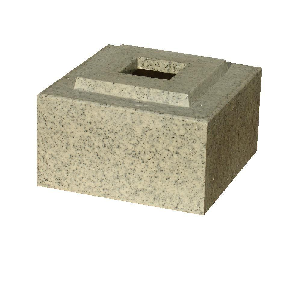 KutStone 30 in. Planter Speckled Granite Cubic Pedestal Riser