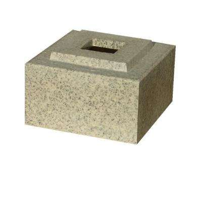 30 in. Planter Speckled Granite Cubic Pedestal Riser