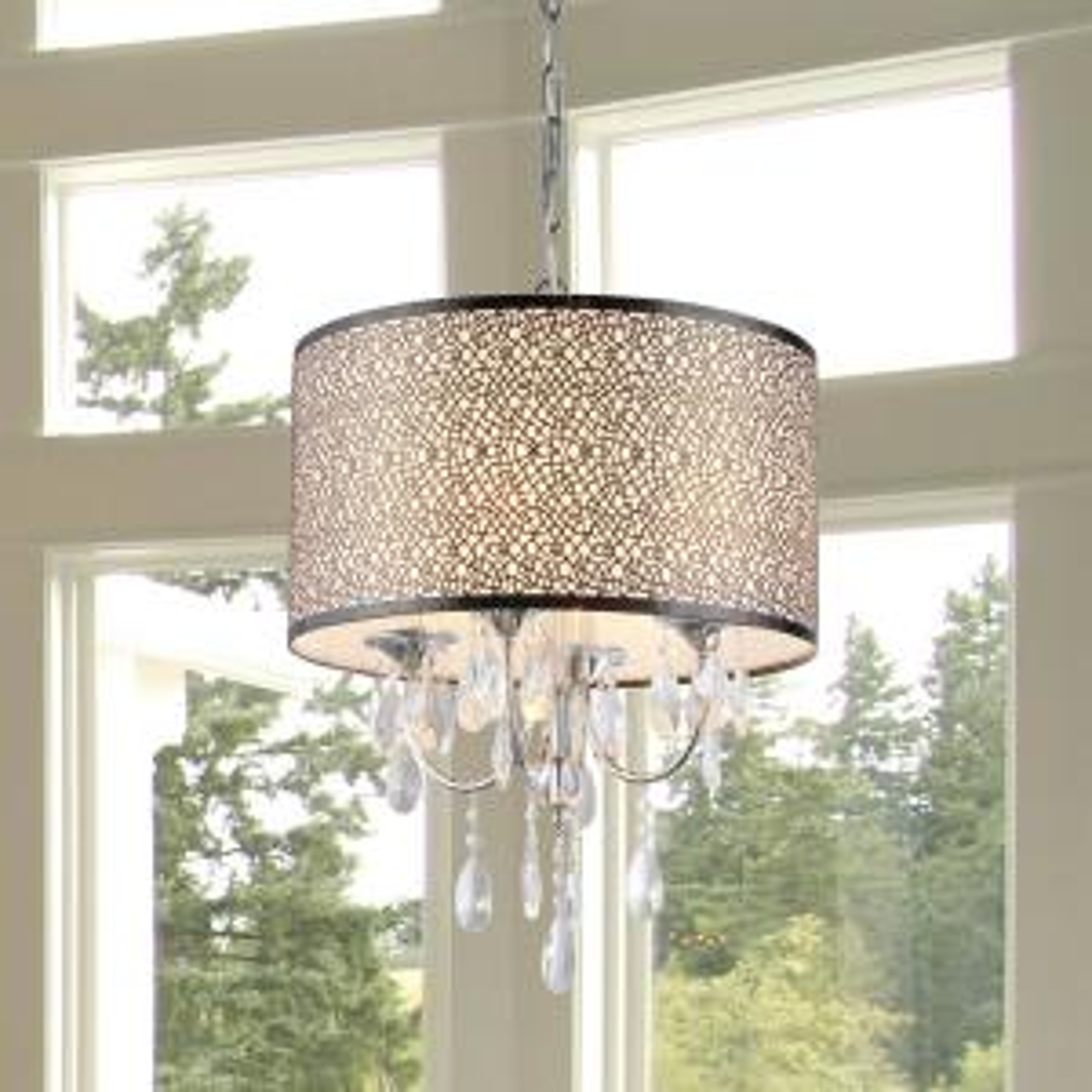 Warehouse of tiffany camilla 6 light chrome crystal chandelier with lush 3 light chrome chandelier with shade aloadofball Image collections