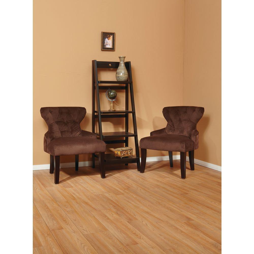 Curves Chocolate Velvet Accent Chair