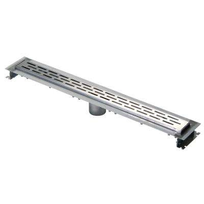 28 in. Stainless Steel Linear Shower Drain with End Bottom Outlet