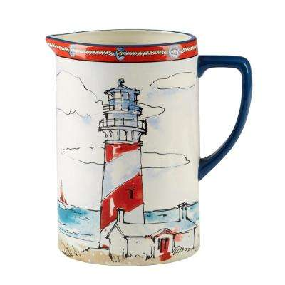 Coastal Life 2.5 qt. Multi-Colored Pitcher