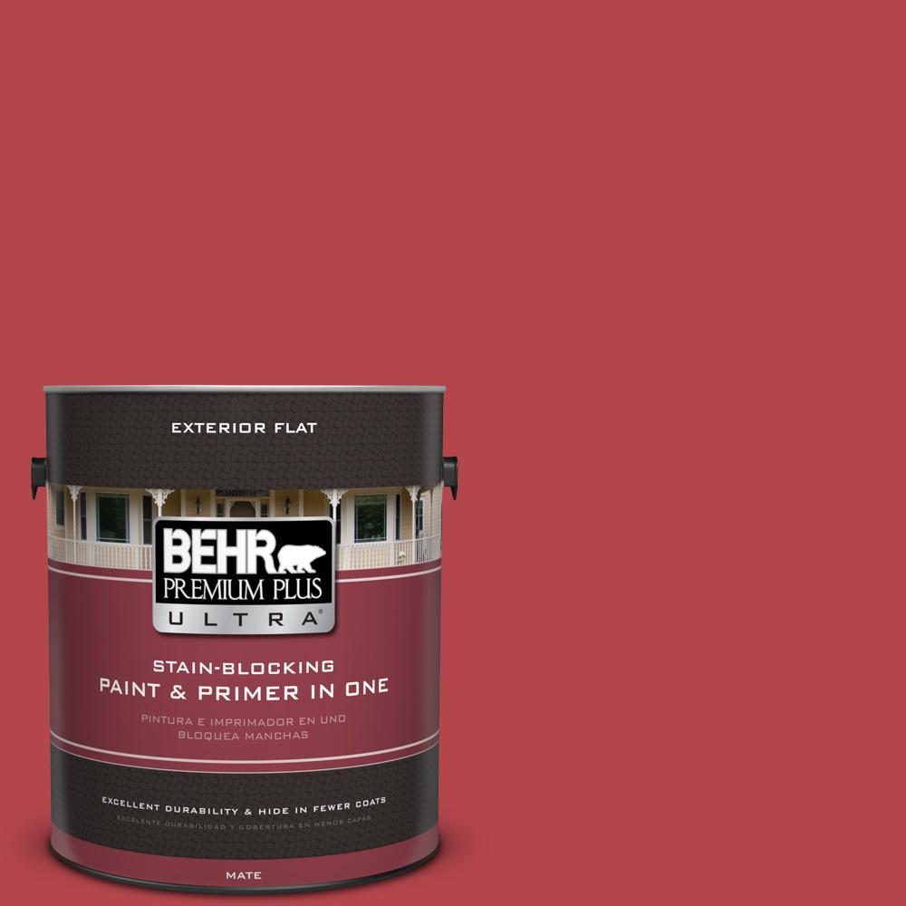 1 gal. #HDC-SM14-10 Intrigue Red Flat Exterior Paint