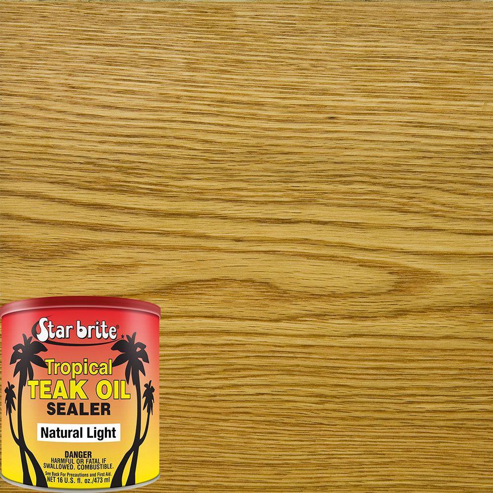16 oz. Natural Light Teak Tropical Oil/Sealer