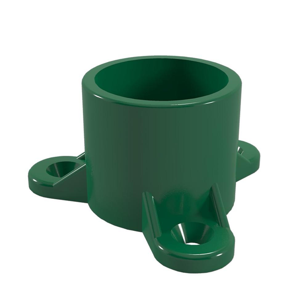 1 in. Furniture Grade PVC Table Screw Cap in Green (10-Pack)
