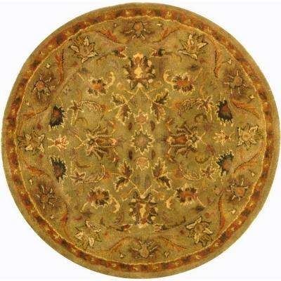 Antiquity Olive/Gold 4 ft. x 4 ft. Round Area Rug