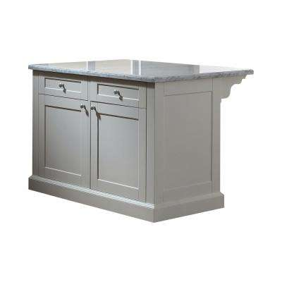 Maidstone 54 in. White Kitchen Island