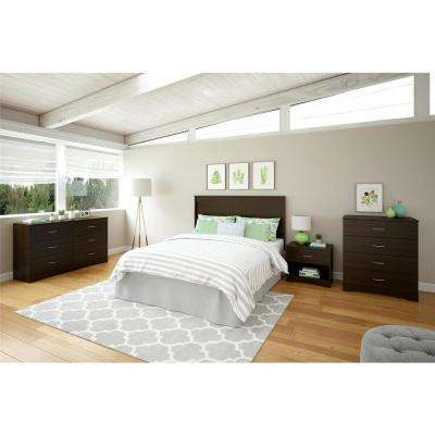 Crescent Point Queen Size Espresso Headboard