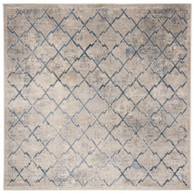 Brentwood Light Gray/Blue 7 ft. x 7 ft. Square Area Rug