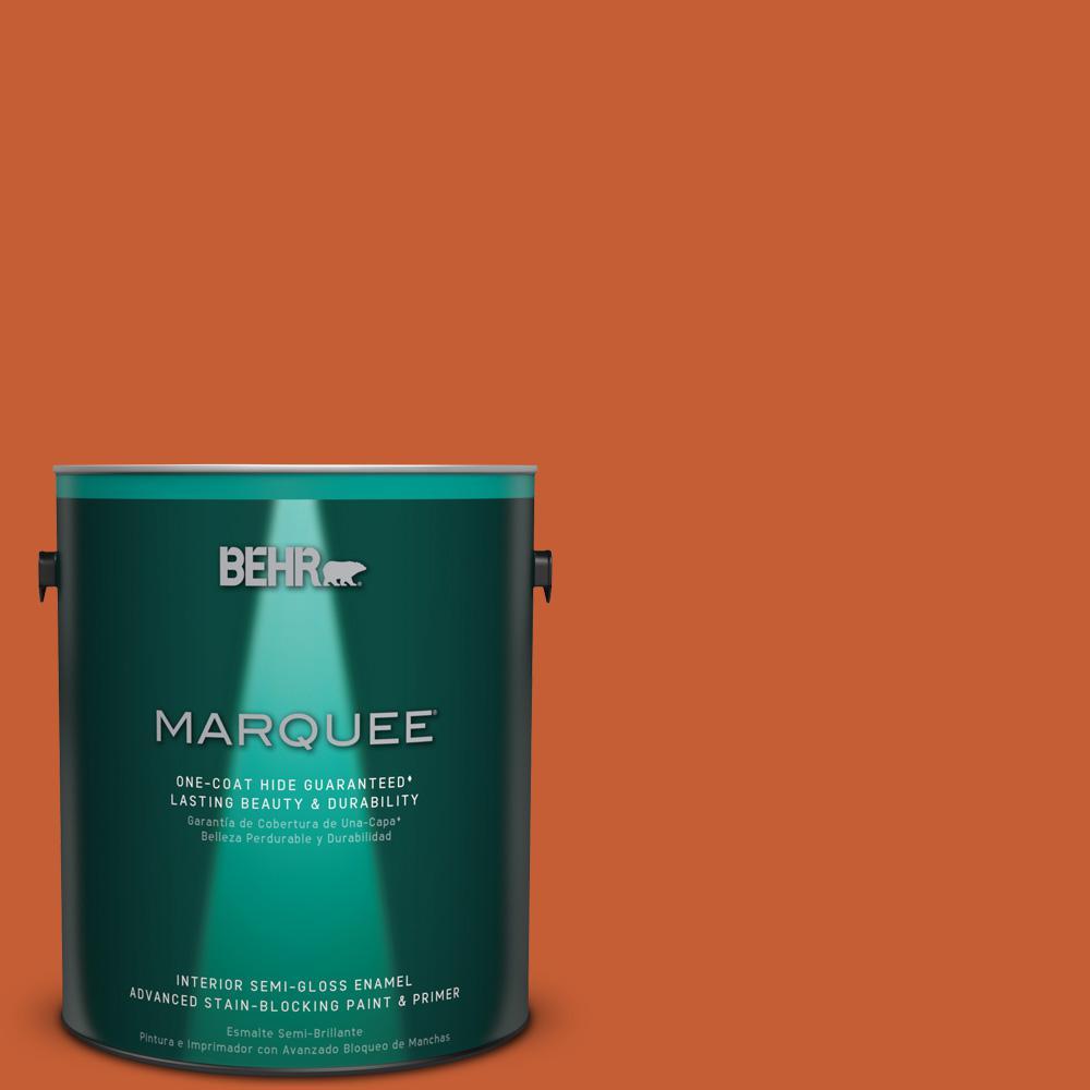 1 gal. #T18-02 Civara Semi-Gloss Enamel Interior Paint