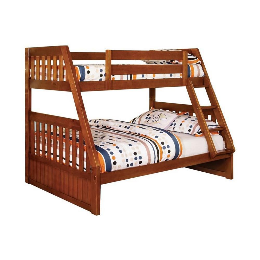 Canberra Twin/Full Bunk Bed in Oak