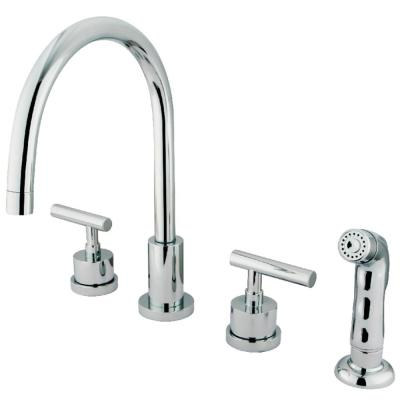 Manhattan 2-Handle Standard Kitchen Faucet in Polished Chrome