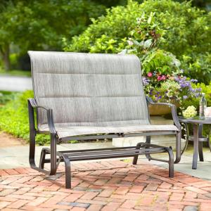 Hampton Bay Statesville Metal Patio Outdoor Double Glider by Hampton Bay