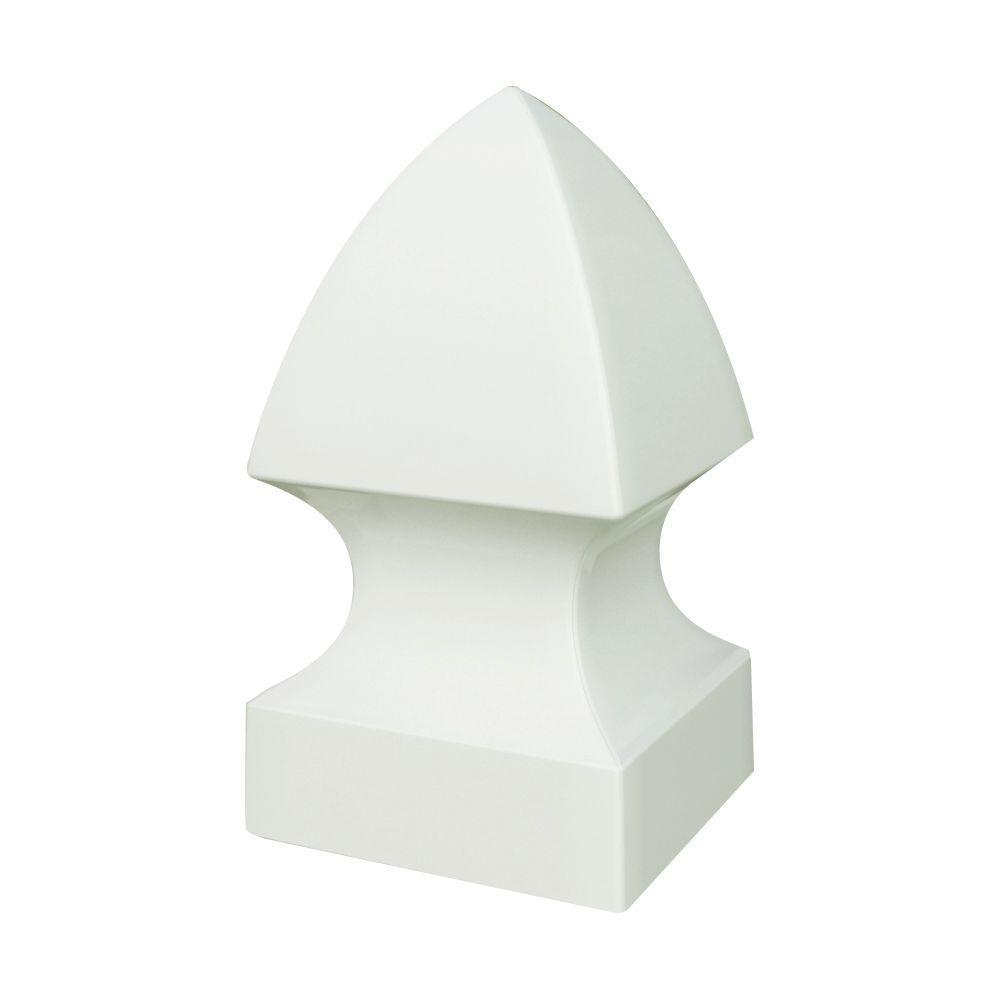 5 in. x 5 in. White Vinyl Gothic Fence Post Cap