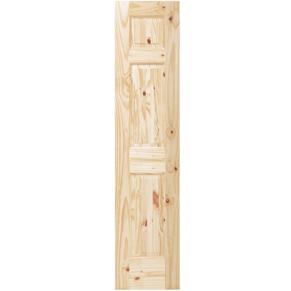 Steves & Sons Summit 3-Panel Solid Core Knotty Pine Interior Door Slab