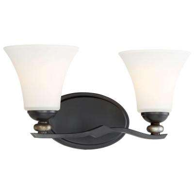 Shadowglen 2 Light Lathan Bronze Bath Light