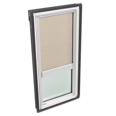 30-1/16 in. x 54-7/16 in. Fixed Deck-Mount Skylight w/ Laminated Low-E3 Glass, Classic Sand Manual Light Filtering Blind