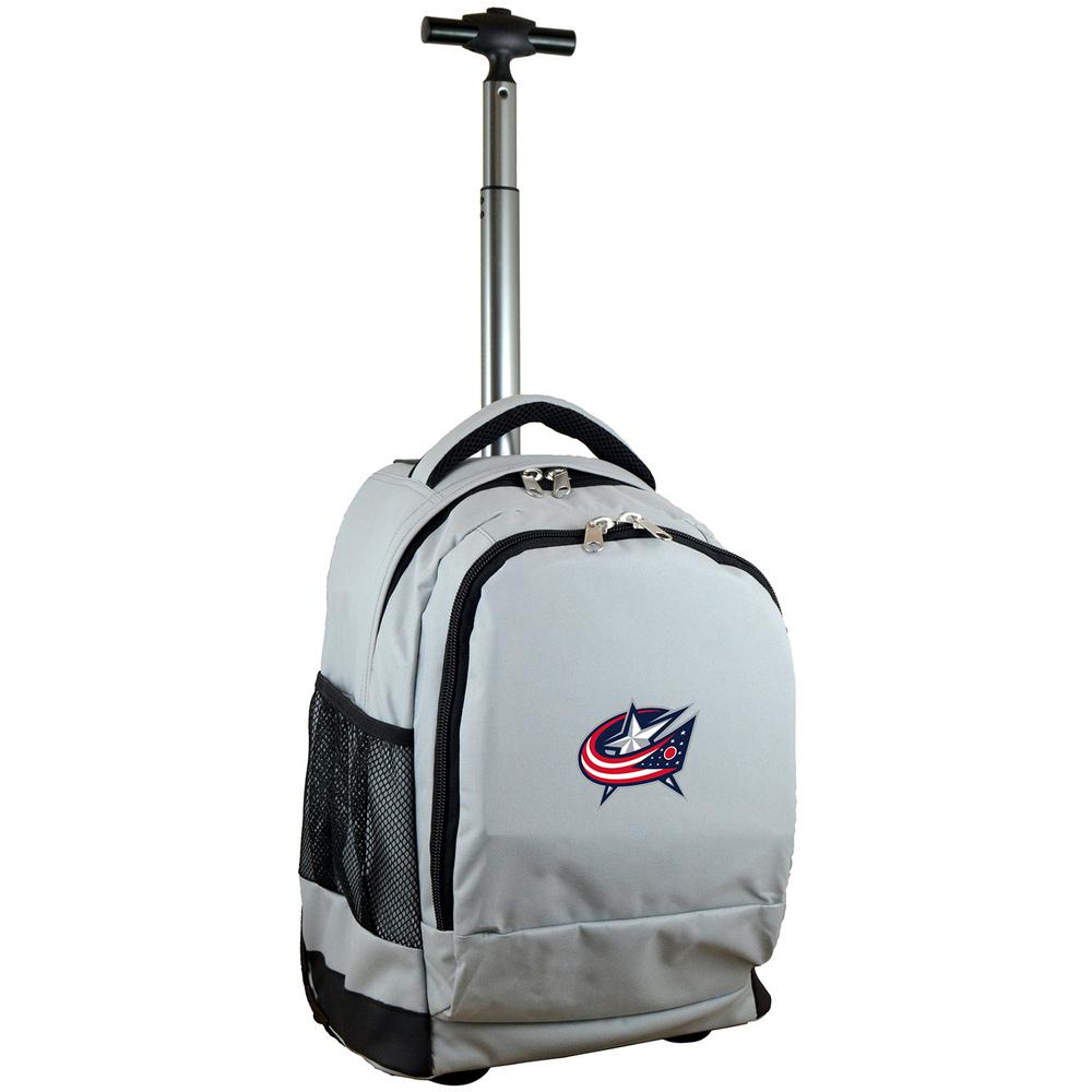 NHL Columbus Blue Jackets 19 in. Gray Wheeled Premium Backpack
