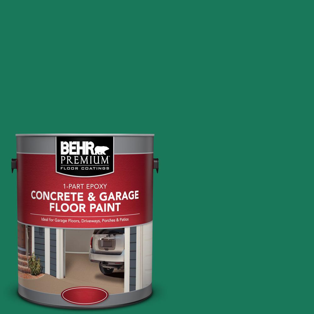 1 gal. #OSHA-2 OSHA SAFETY GREEN1-Part Epoxy Satin Interior/Exterior Concrete and Garage Floor Paint