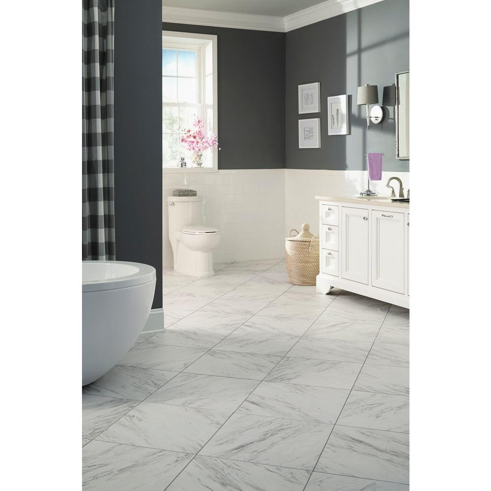 Trafficmaster Carrara Marble 18 In X