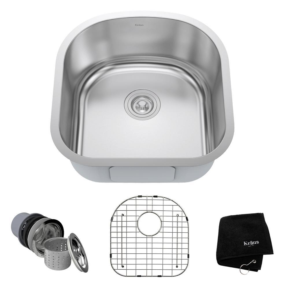 20 Kitchen Sink Kraus undermount stainless steel 20 in single bowl kitchen sink kit kraus undermount stainless steel 20 in single bowl kitchen sink kit workwithnaturefo