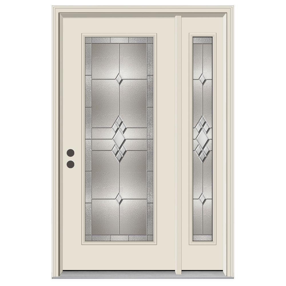 Full Lite Kingston Primed Steel Prehung Right-Hand  sc 1 st  The Home Depot & Single door with Sidelites - JELD-WEN - Front Doors - Exterior Doors ...
