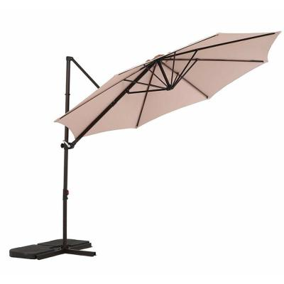 10 ft. UV Protected Cantilever Patio Umbrella with Tilt in Champagne