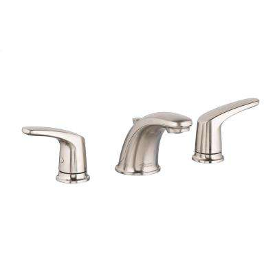 Colony Pro 8 in. Widespread 2-Handle Low-Arc Bathroom Faucet with Pop-Up Drain Assembly in Brushed Nickel