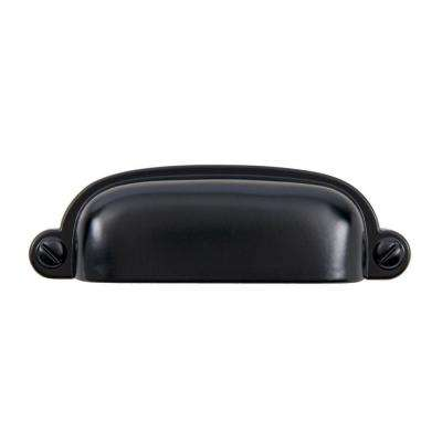 Garner 2-3/4 in. Center-to-Center Matte Black Cup Pull